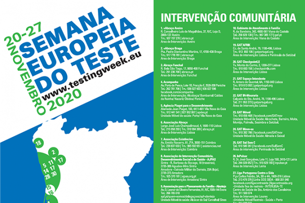 Semana Europeia do Teste VIH e Hepatites 2020